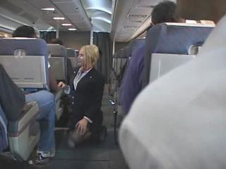 Porn Tube of Blonde Flight Attendant And Asian Guy