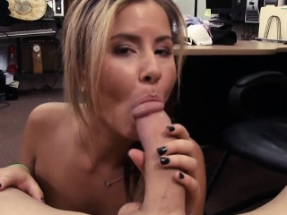 cutie waitress drilled by nasty pawn guy at the pawnshop