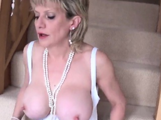 cheating english milf lady sonia pops out her giant melons