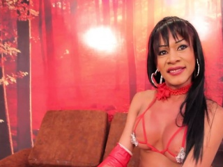 Red lingerie shemale bangs deep