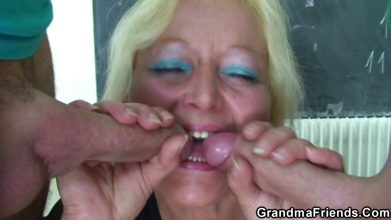 Porno Video of Perverted Old Teacher Takes Two Cocks