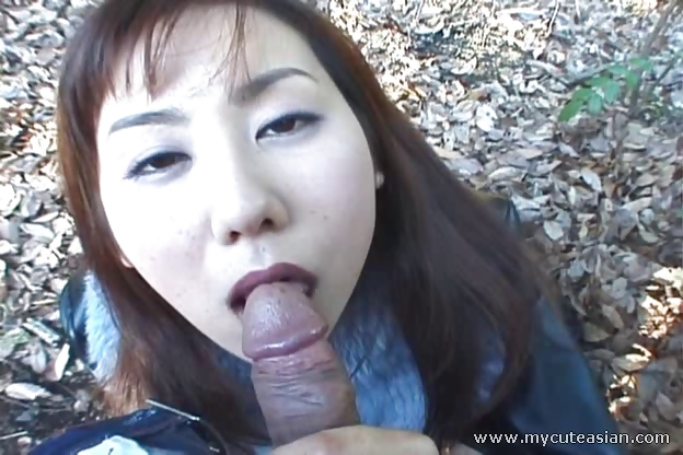 Porn Tube of Really Wild Outdoor Japanese Teen Blowjob!