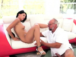 coco demal know how to please a grandpa by offering her body