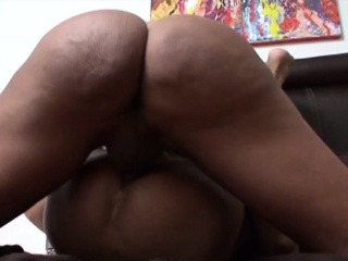 Busty shemale facializes
