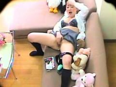 Порно блондинка в матовых гольфах