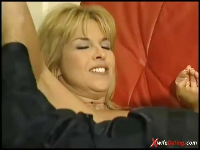 Porn Tube of Mature Housewife Fucked On Red Couch