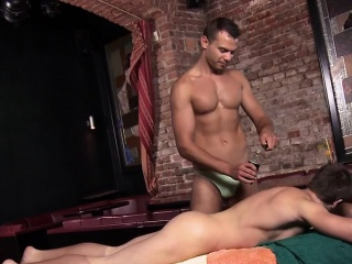lewd fellow is getting a lusty and relaxing massage
