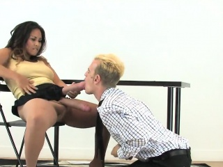 Girls drill boyfriends asshole with monster belt cocks and s