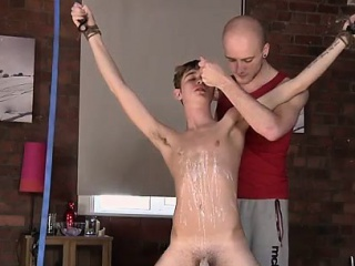Nipple bondage on male slave and male bondage scene japan ga