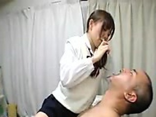 cute nurse makes out with her patient and has a drink in be