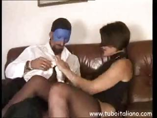 Porn Tube of Masked Italian Mature Gal Gets Pounded A Masked Italian Stallion