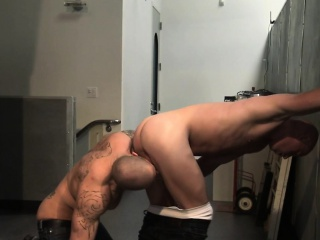 spunky buff gay eats ass