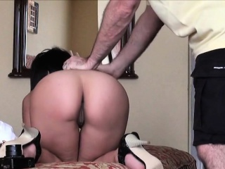 casting doll goes home after hardcore sex and anal hole pene