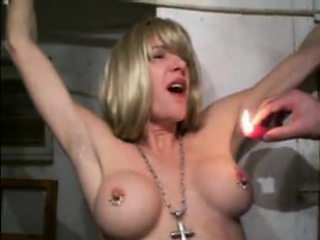 warm wax dripped on her breasts that were amateur