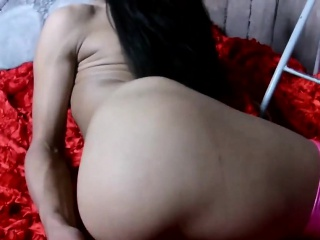 Amateur russian tgirl with hard cock cumdrops