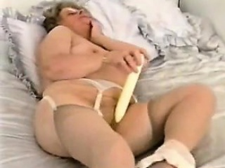 chubby granny plays and strips