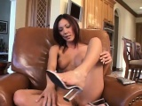 sexy slender brunette lani takes her new vibrator for an exciting ride