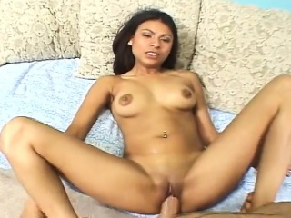 bald cunt latina blows his rod and gets her love hole hammered
