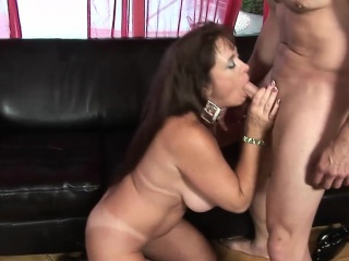 slutty granny rides a massive meat pole
