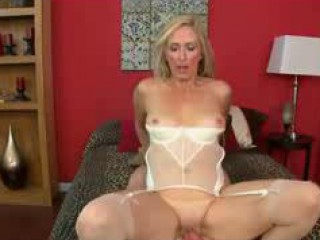 Glamorous Granny In Stockings Loves Anal