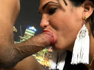 big boobs shemale takes hard cock in her juicy asshole