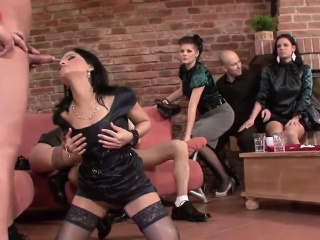 kinky dudes pee all over hot babes