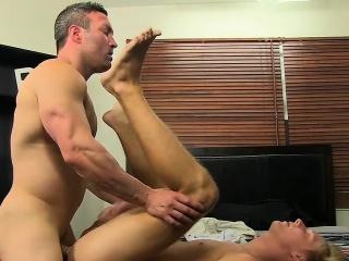 attractive gay hunk brock landon pounds blonde twink evan