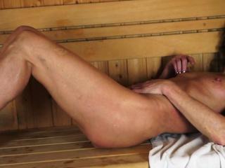 Smalltits lesbian mature fingering in sauna