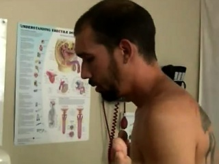Older gay medical videos first time Lukas visits the clinic