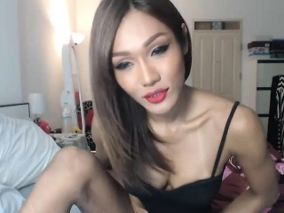 Beautiful Ladyboy Performs on Cam at home