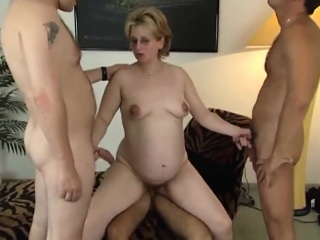 pregnant mother natalie skillfully services three horny dude