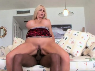 bootylicious blonde karen sits on a bbc