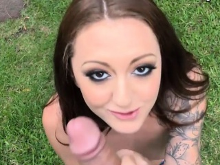 skinny tattooed gf tries out anal sex with throbbing cock
