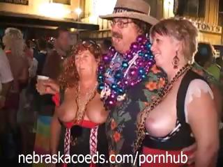 Porno Video of Key West Fantasy Fest Festival With Busty Babes Showing It Off