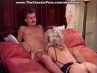 Busty mature classic blonde star gives a hot vintage blowjob