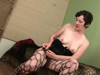 hairy milfs cristine and artemisia fingering in stockings