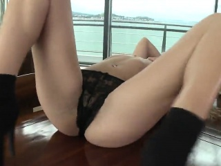 striking stunner is presenting her stretched juicy cunt in c
