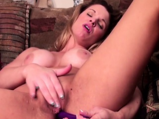 sexy american girl big tits play with dildo         by oopsc