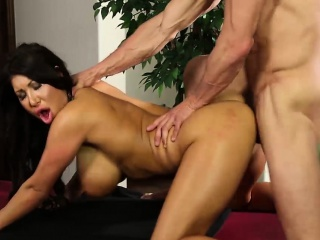 august taylor gets drilled hard on the massage table