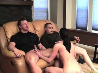 kendra lust gets worshiped and sucks cock