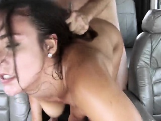 duchess doppelganger brunette doggy fucked by fake driver