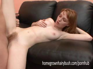 Porno Video of Redhead Gets Drilled And Rides His Cock, Then Takes A Shower