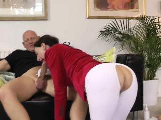 british milf cockriding before anal creampie