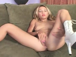 perky tits blonde deep throats black dick