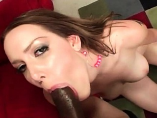 nasty hoe eats black cock and gets pounded