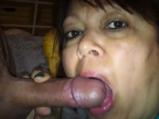 mature asian from milfsexdating net sucking my cock