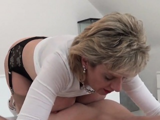 unfaithful english mature lady sonia shows off her large bre