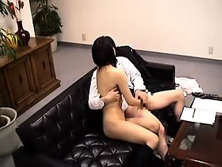 pretty asian girl sucks and strokes a fat cock like only sh