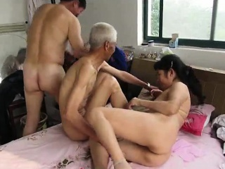 asian grandpa trio with mature wom marlene from 1fuckdatecom