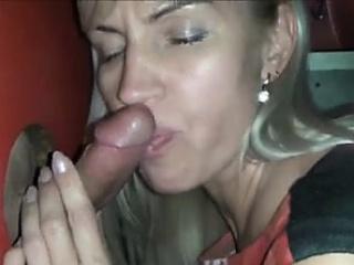 inexperienced blondie mummy blows stranger at gloryhole one